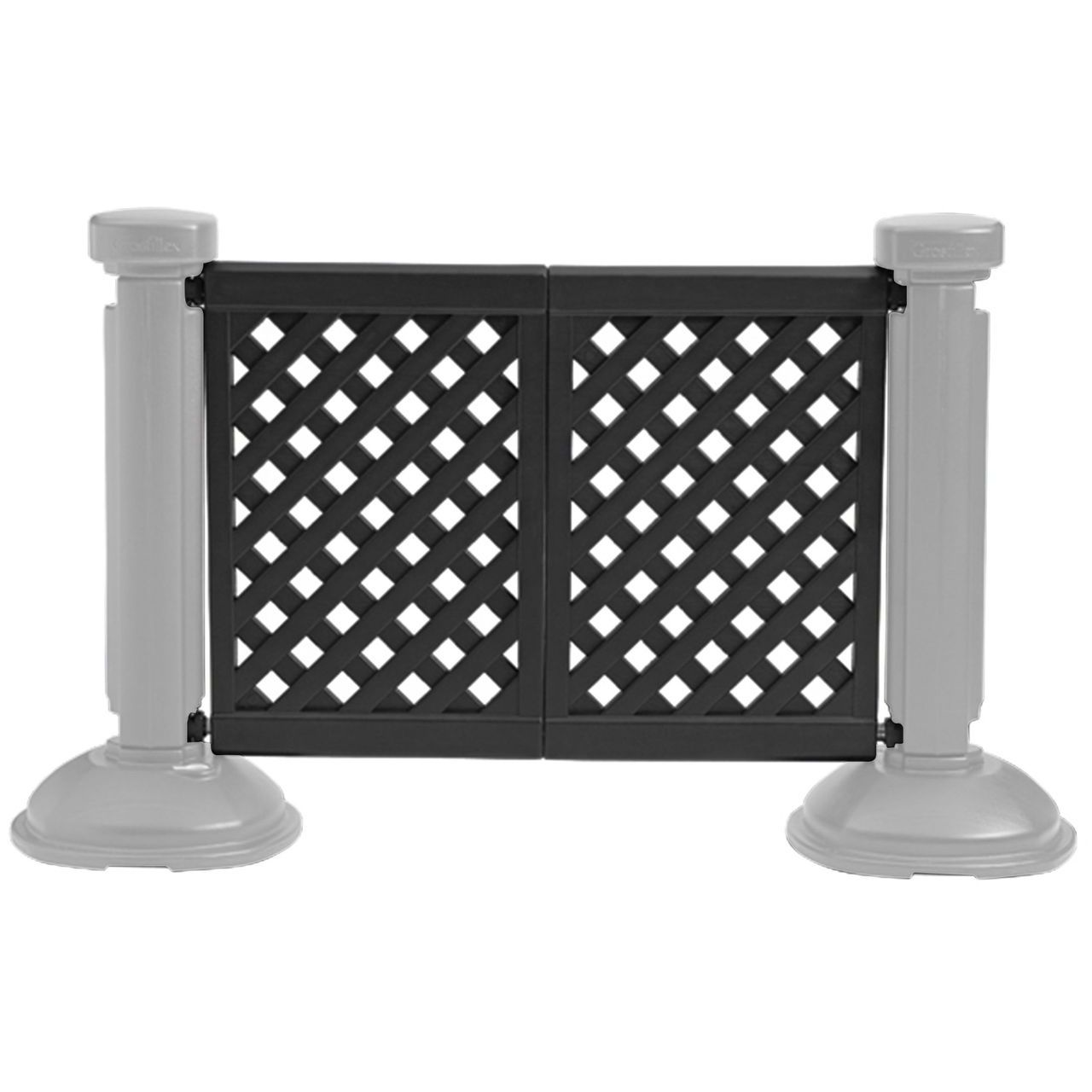 Grosfillex 2-Panel Section of Portable Fencing in Black