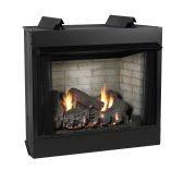 Deluxe 42 VF FF Firebox, SS Log Set, Liner & Slope Glaze Burner - NG