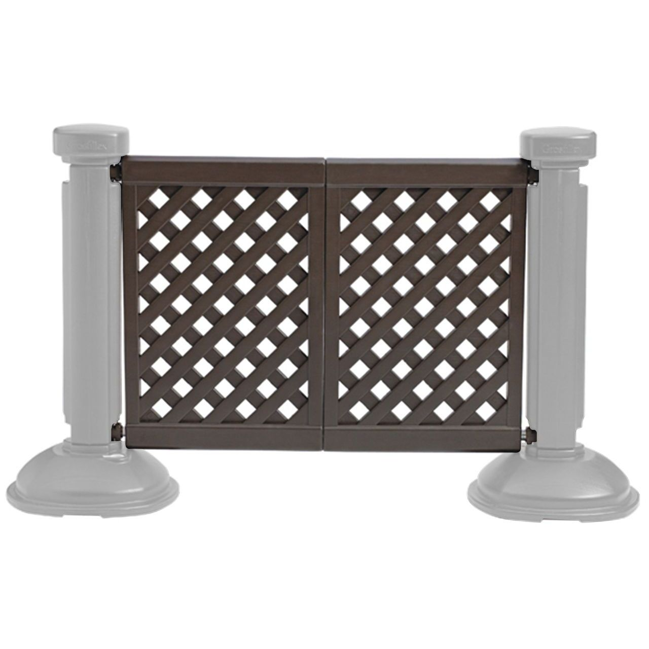 Grosfillex 2-Panel Section of Portable Fencing in Brown
