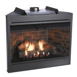 Deluxe 36 Keystone Series MV Flush Face B-Vent Fireplace - Natural Gas