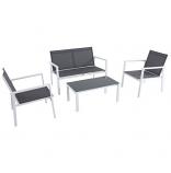 Almo HARP4PC-WG Harper 4-piece Sling Seating Set - White-Gray