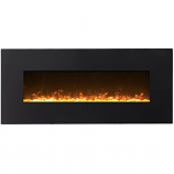 Regal Flame LW5075BK Orion 50in Black Electric Wall Mounted Fireplace - Crystal
