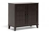 Glidden Dark Brown Wood Modern Shoe Cabinet (Short)