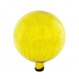 "Gazing Globe 12"" Lemon Drop Crackle"