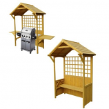 Two-In-One Seated Party Arbor - Barbeque Shelter