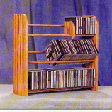 Solid Oak 3 Row Dowel CD Rack Model 301