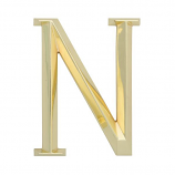 Classic 6 Inch Letter - N - Brass
