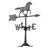 24-Inch Horse Accent Weathervane - Black