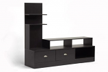 Baxton Studio Armstrong Dark Brown Modern TV Stand