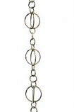 Brushed Stainless Life Circles Rain Chain -4.25