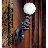 Black friar's Gate Wall Torchiere Lamp