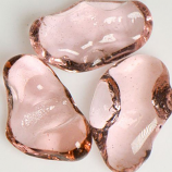 Pink Cotton Candy Medium Jelly Bean Fireplace Firepit Glass - 25 LB