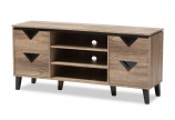 Beacon Modern and Contemporary Light Brown Wood 55-Inch TV Stand