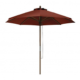 Montlake Bamboo Patio Market Umbrella - Heather Henna