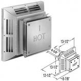 """DirectVent Pro 4"""" x 6-5/8"""" Aluminum Square Horizontal Termination Cap"""