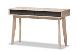 Fella Mid-Century Modern 2-Drawer Oak and Grey Wood Study Desk