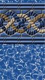 GLI Pool 050015RDGOBUB54 Glilin 15ft Round 54in Unibead Golden Beach ABG Liner