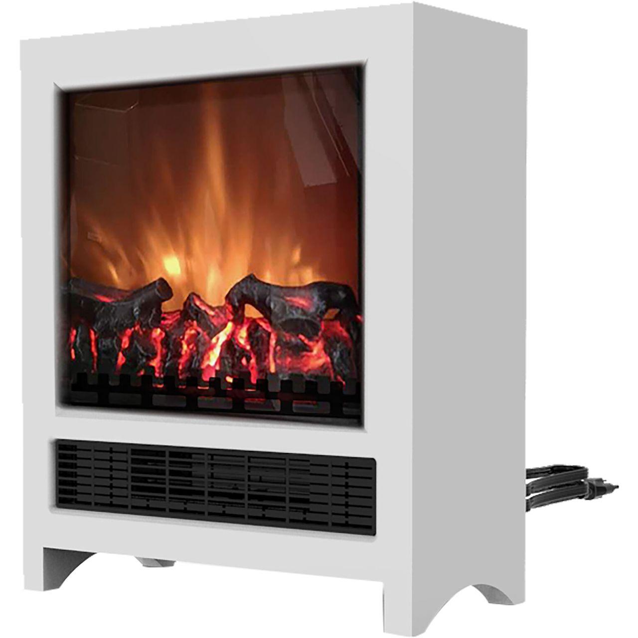 "Cambridge 19"" Freestanding 4606 BTU Electric Fireplace - White"