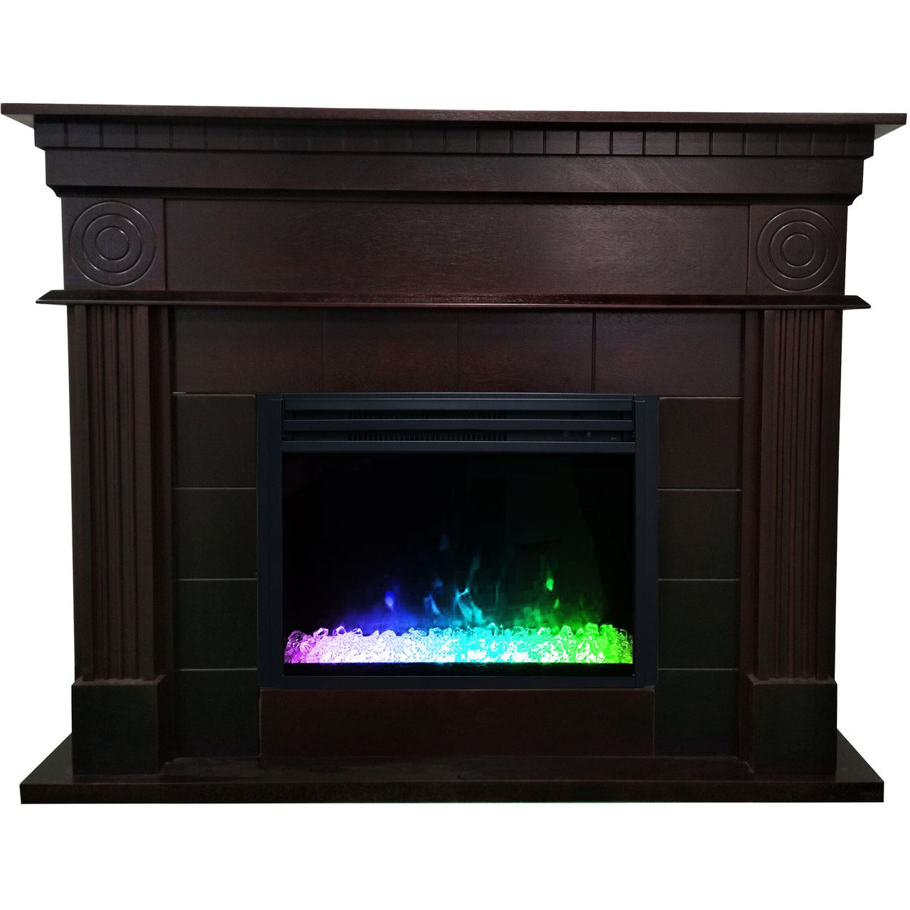 "Cambridge 47.8"" Shelby Electric Fireplace Mantel - Dark Coffee"