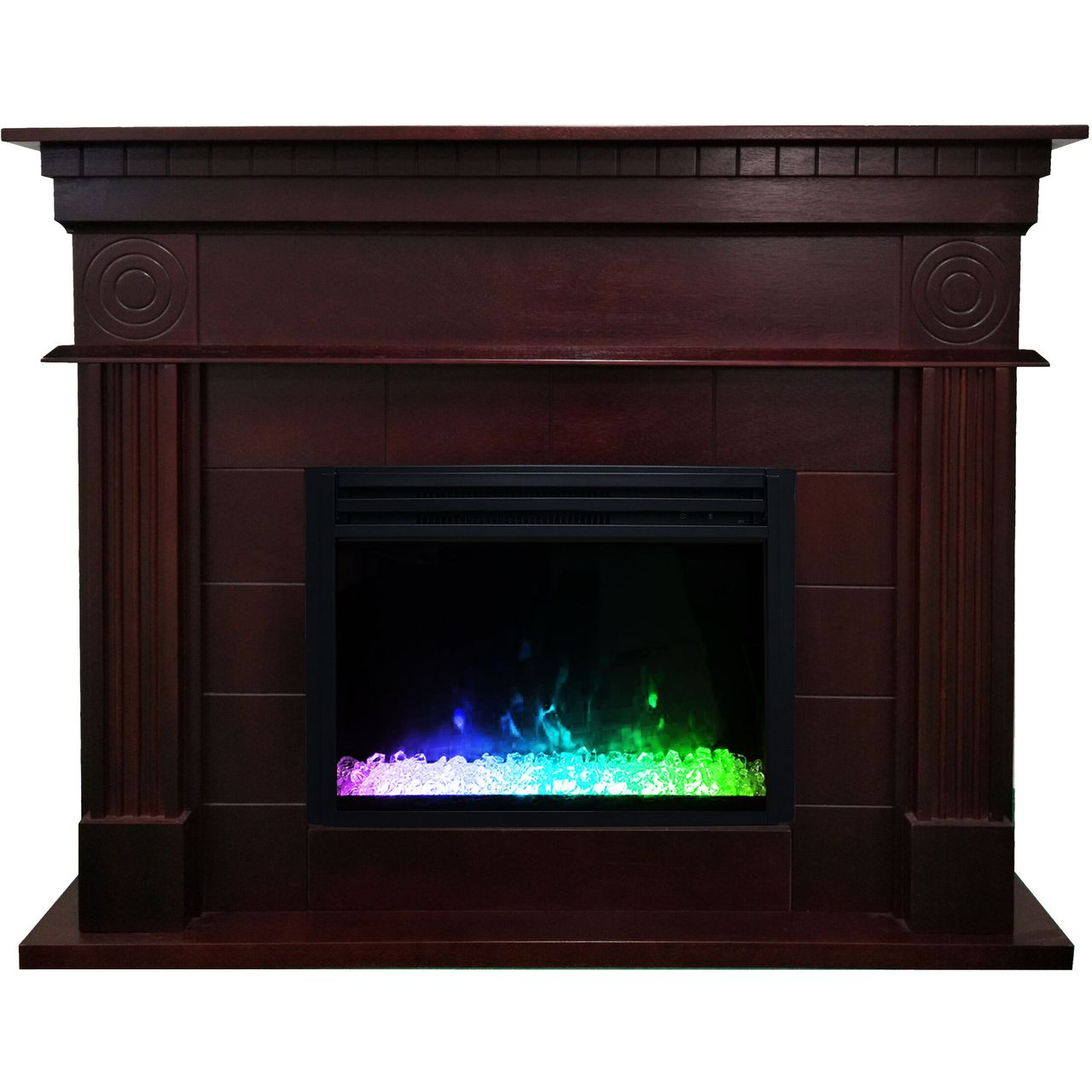 "Cambridge 47.8"" Shelby Electric Fireplace Mantel - Mahogany"