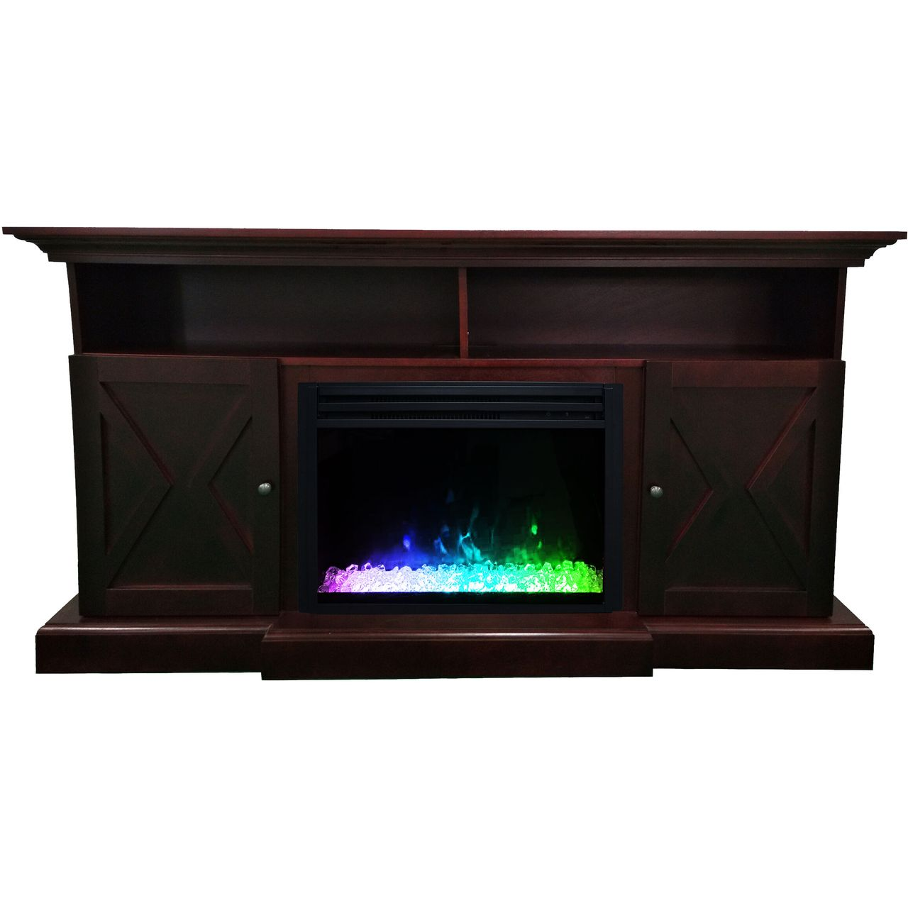 "Cambridge 62"" Summit Electric Fireplace Mantel - Mahogany"
