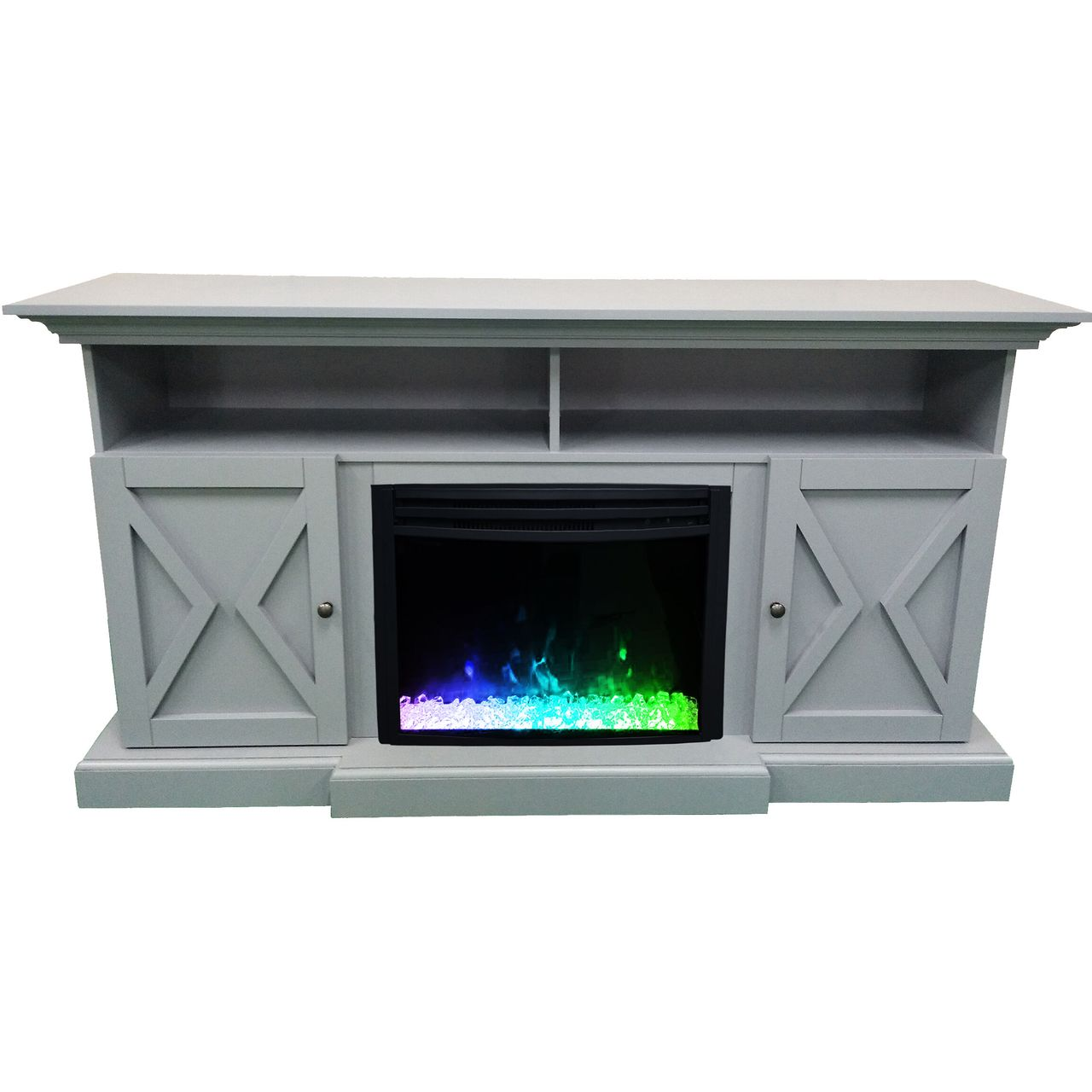 "Cambridge 62"" Summit Electric Fireplace Mantel - Slate Blue"