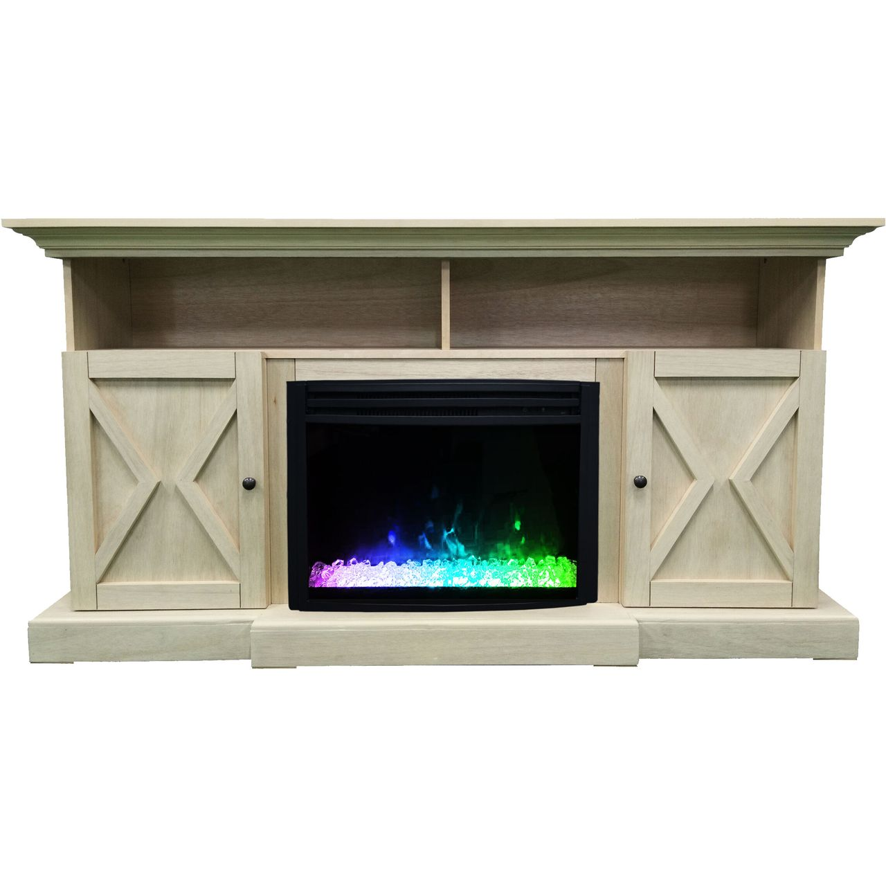 "Cambridge 62"" Summit Electric Fireplace Mantel - Sandstone"