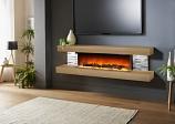 Evolution Fires EFV72BTO 72'' Vegas Electric Fireplace - American Oak