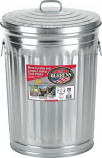 Arett B54-1211KX Galvanized Steel Garbage Can with Lid