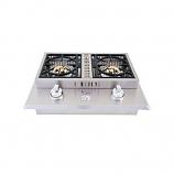 Lion Premium Grills L1634 Double Burner Removable Cover Natural Gas