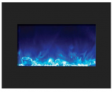 "26"" Zero Clearance Fireplace with 29"" x 23"" Black Glass Surround"
