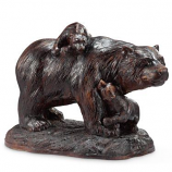 Playtime Bear and Cubs Garden Sculpture
