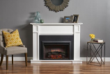 Outdoor GreatRoom HTG-W Heritage White Fireplace Cabinet