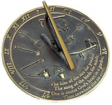 Rome Brass Kiss Of The Sun Sundial - Solid Brass with Verdigris