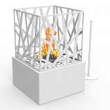 Regal Flame ET7002WHT Bruno Ventless Tabletop Bio Ethanol Fireplace in White
