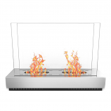 Regal Flame EF6009 Phoenix Ventless Free Standing Ethanol Fireplace in Steel