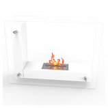 Regal Flame EF6001W Avec Ventless Free Standing Ethanol Fireplace in White