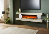 Evolution Fires 72'' Vegas Wall Mount Electric Fireplace - Marfil