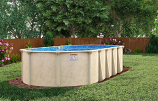 "34' x 18' Sunnylea Oval Above Ground Pool, Mardi Gras Liner & 52"" Wall"