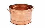 Achla C-50C Round Hammered Copper Plated Tub
