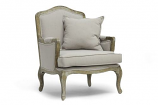 Constanza Classic Antiqued French Accent Chair