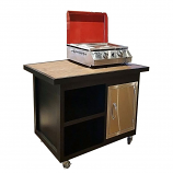 Aupa Plancha Grill Cart - Black/Gray
