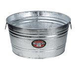 Arett B54-7X Multi Purpose Hot Dipped Steel 35 Gallon Round Tub
