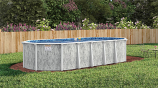 """24 x 12 Stoneleigh Oval Above Ground Pool, Mardi Gras Liner & 52"""" Wall"""
