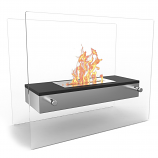 Regal Flame ET7008BK Vista Tabletop Portable Bio Ethanol Fireplace in Black