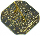 Rome Romanesque Sundial - Solid Brass with Verdigris Highlights