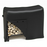 Dura Covers LRFP5526 4-Foot Heavy Duty Firewood Log Rack Cover in Black