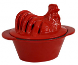 US Stove CS-02R Chicken Steamer - Red Enamel Porcelain