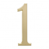 """4.75"""" Number 1 Satin Brass By Whitehall Products"""