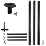 Arett D50-UNBSX Ultimate Nest Box Pole System Metal - Black